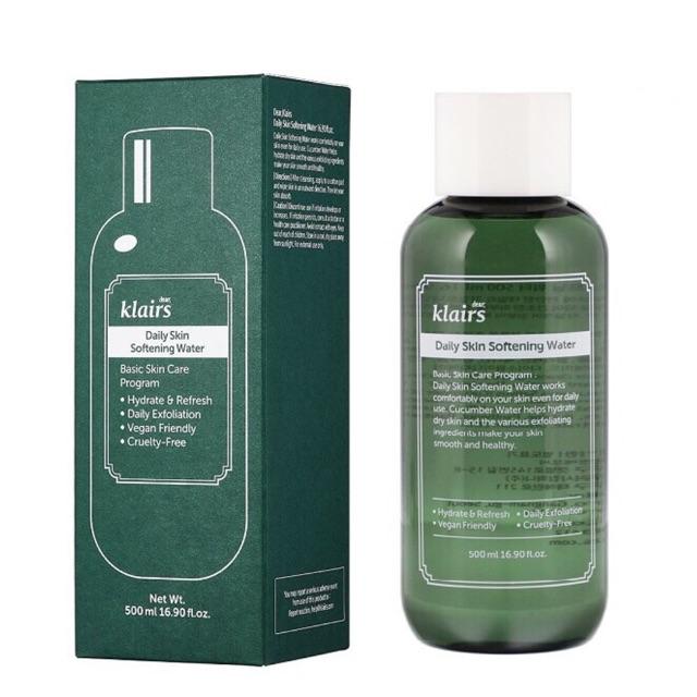 Nước Hoa Hồng Klairs Daily Skin Softening Water 500ml