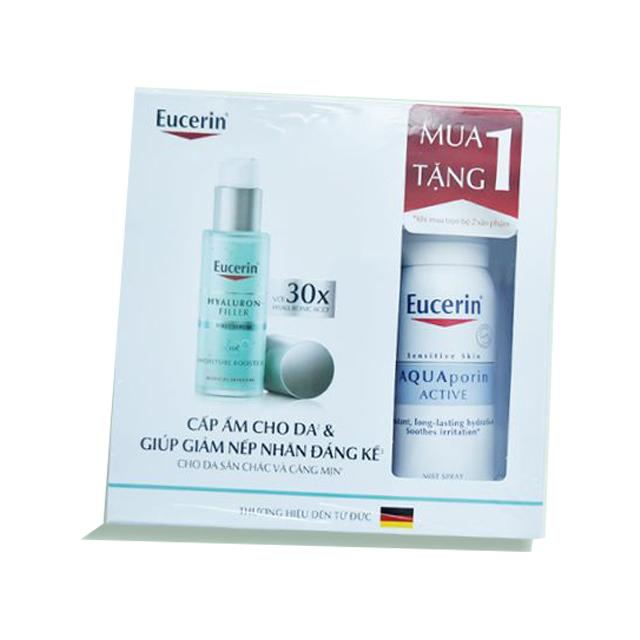 Set Tinh Chất Cấp Ẩm Chống Lão Hóa Eucerin Moisture Booster 30ml Tặng Xịt khoáng Eucerin AquaPorin Active Mist Spray 50ml