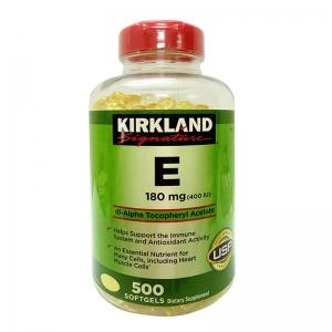 Viên Uống Vitamin E 400 IU Kirkland 500 Viên