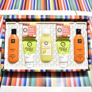 Set quà tặng Dầu gội + Sữa tắm + Xà phòng tắm + Sữa rửa mặt Happy Bath