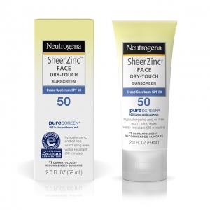 Kem chống nắng Neutrogena Sheer Zinc Face Dry Touch SPF50