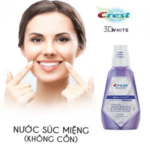 Nước súc miệng trắng răng Crest 3D White Brilliance Advanced Whitening Experience