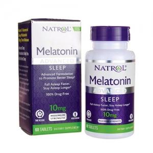 Viên Uống Giúp Ngủ Ngon Natrol Melatonin Advanced Sleep 10mg 60 viên