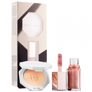 Set Son Bóng & Highlight Mini Fenty Beauty Bomb Baby Mini Lip And Face Set