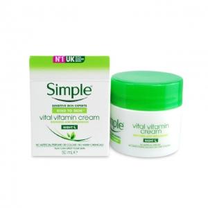 Kem Dưỡng Ban Đêm Simple Kind To Skin Vital Vitamin Night