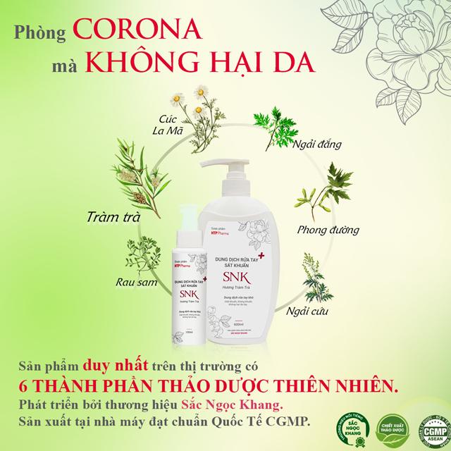 Dung dịch rửa tay sát khuẩn SNK 600ml