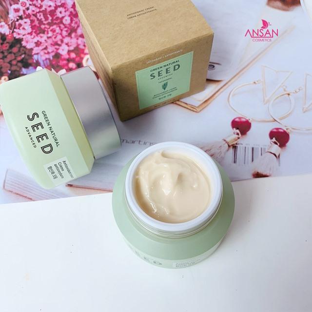 Kem Dưỡng Da Chống Oxy Hoá The Face Shop Green Natural Seed Advanced Antioxidant Cream 50ml