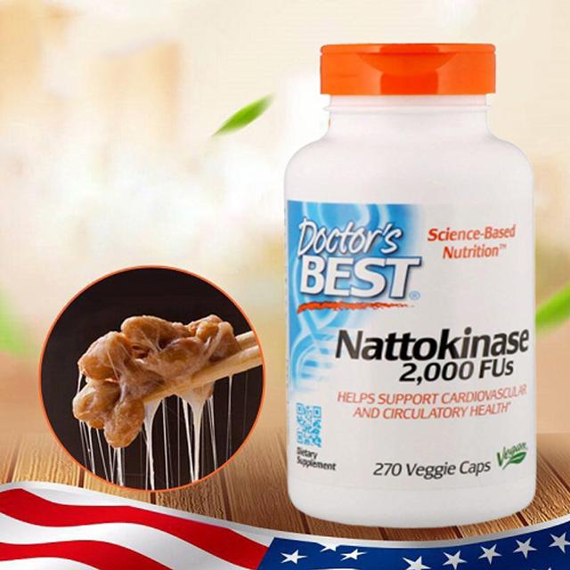Viên uống chống đột quỵ Doctor's Best Nattokinase 2000FUs