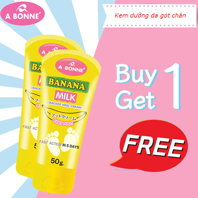 Combo Kem dưỡng da gót chân A Bonne' Banana Milk Cracked Heel Cream