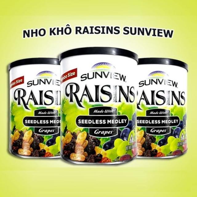 Nho Khô Mỹ Không Hạt Sunview Raisins