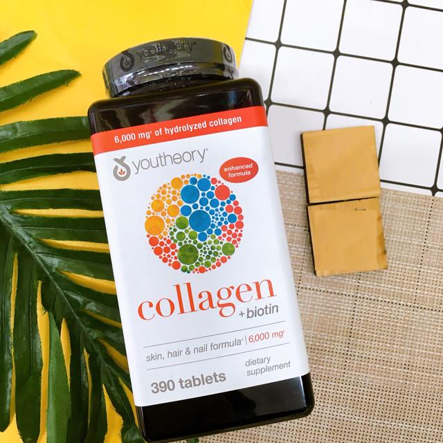 Viên uống bổ sung Collagen + Biotin Youtheory 390 viên
